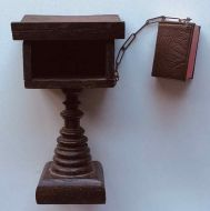 A Miniature Chained Bible and Lectern.