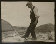 Dudley Glanfield Photographs Of An Ironworker.