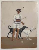 Company paintings on Mica. Mid C 19th