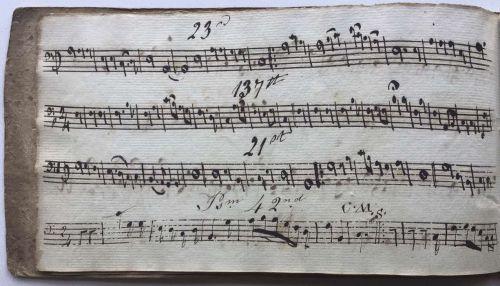 Robert Ventress's  Music Book 1822