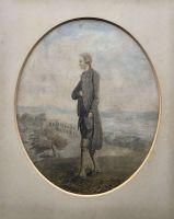 Watercolour portrait of a gentleman