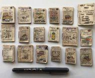 Eighteen 1920's Miniature Motoring Manuscripts