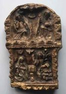 C16th gilt wood panel