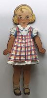 Original Vintage Paper Dolls with outfits.