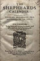 The Shepheard's Calender First Folio 1611