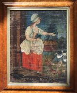 Cottage Beauty 19th Century Painting