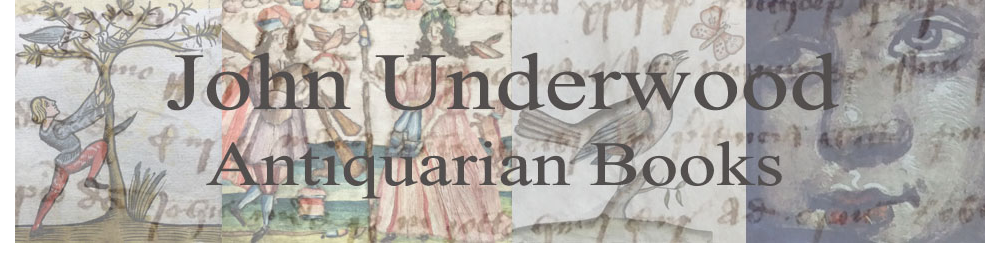 Sellers Of Antiquarian Books and Manuscripts - John Underwood Antiquarian Books